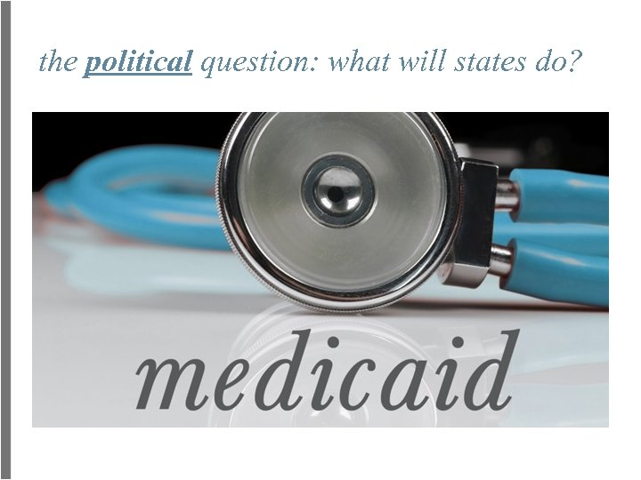 the political question: what will states do?