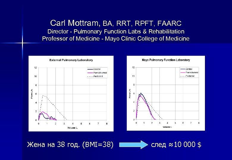Carl Mottram, BA, RRT, RPFT, FAARC Director - Pulmonary Function Labs & Rehabilitation Professor