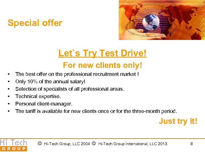 Special offer Let`s Try Test Drive! For new clients only! • • • The