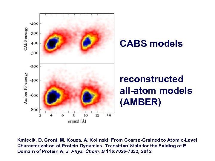 CABS models reconstructed all-atom models (AMBER) Kmiecik, D. Gront, M. Kouza, A. Kolinski, From