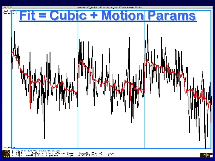 Fit = Cubic + Motion Params