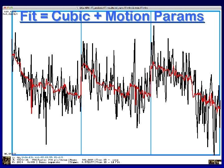 Fit = Cubic + Motion Params