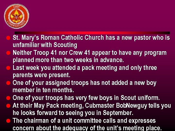 l l l l St. Mary's Roman Catholic Church has a new pastor who