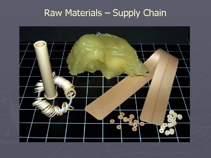 Raw Materials – Supply Chain