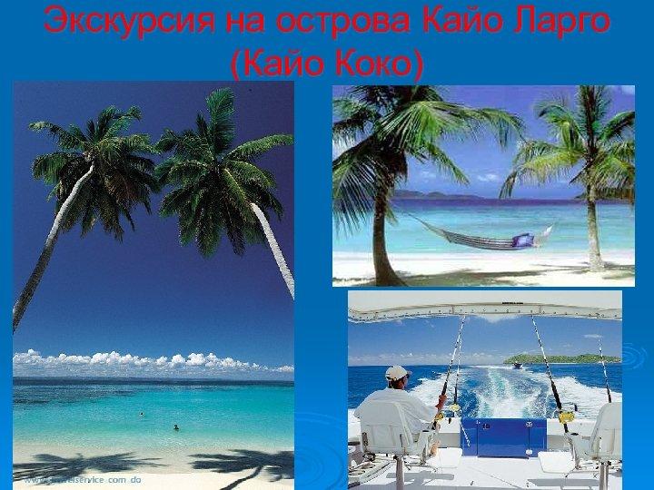 Экскурсия на острова Кайо Ларго (Кайо Коко)