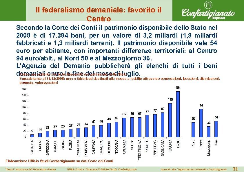 Il federalismo demaniale: favorito il Centro Secondo la Corte dei Conti il patrimonio disponibile