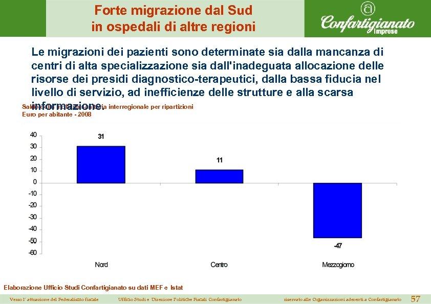 Forte migrazione dal Sud in ospedali di altre regioni Le migrazioni dei pazienti sono
