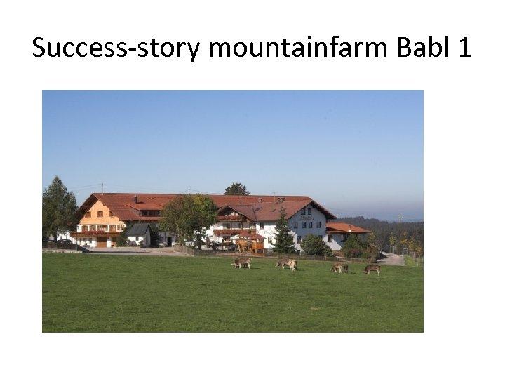 Success-story mountainfarm Babl 1