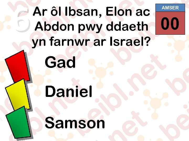 6 Ar ôl Ibsan, Elon ac Abdon pwy ddaeth yn farnwr ar Israel? Gad