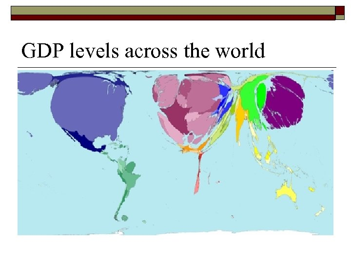 GDP levels across the world