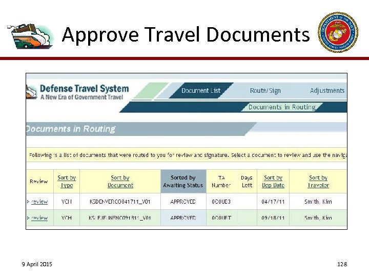 Approve Travel Documents 9 April 2015 128