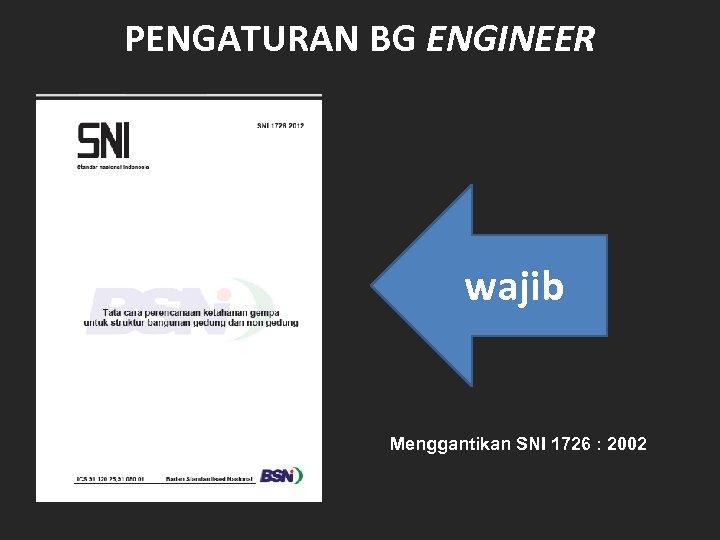 PENGATURAN BG ENGINEER wajib Menggantikan SNI 1726 : 2002