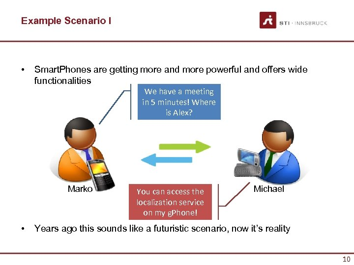 Example Scenario I • Smart. Phones are getting more and more powerful and offers