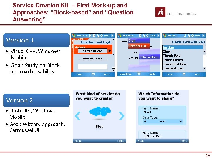 "Service Creation Kit – First Mock-up and Approaches: ""Block-based"" and ""Question Answering"" Version 1"