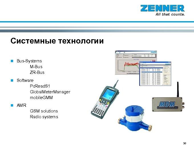Системные технологии n Bus-Systems M-Bus ZR-Bus n Software Pc. Read. S 1 Global. Meter.