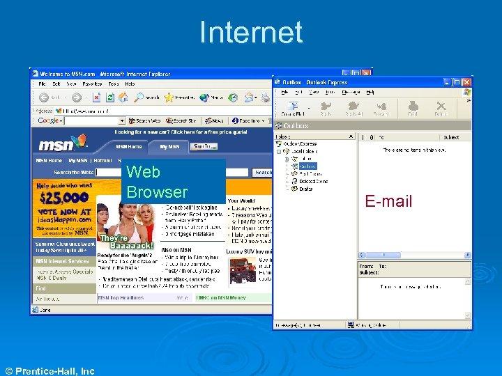 Internet Web Browser © Prentice-Hall, Inc E-mail