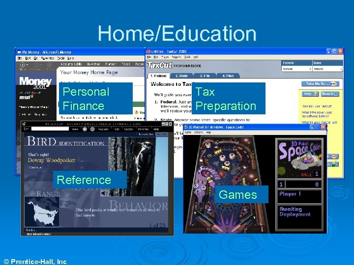 Home/Education Personal Finance Tax Preparation Reference Games © Prentice-Hall, Inc