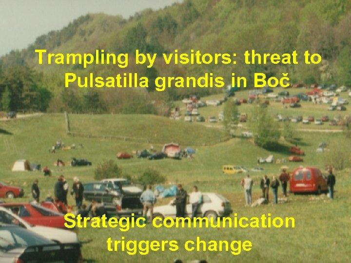 Trampling by visitors: threat to Pulsatilla grandis in Boč Strategic communication triggers change ©
