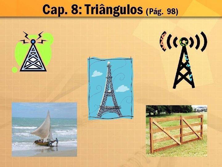 Cap. 8: Triângulos (Pág. 98)