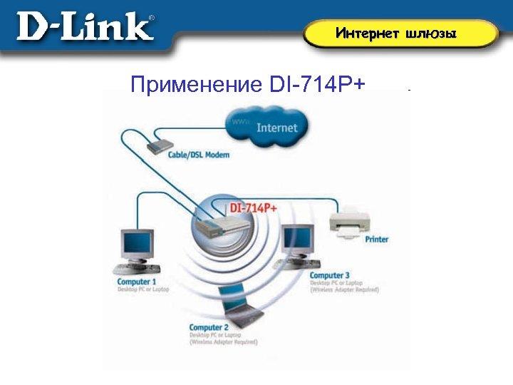 Интернет шлюзы Применение DI-714 P+