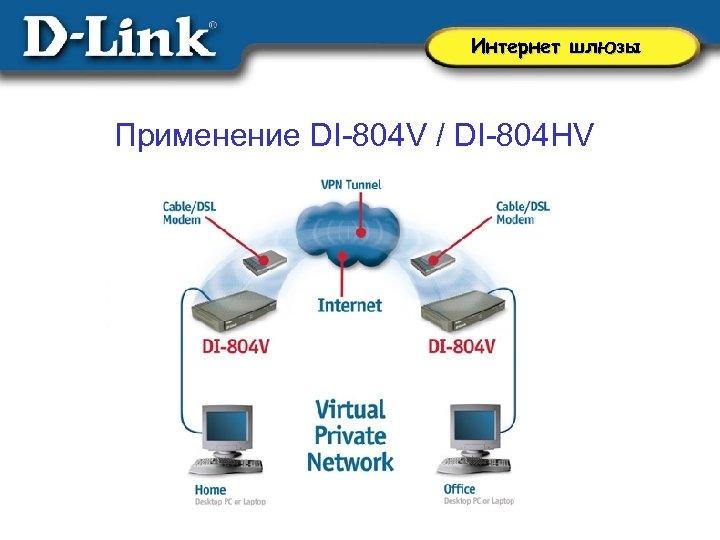 Интернет шлюзы Применение DI-804 V / DI-804 HV