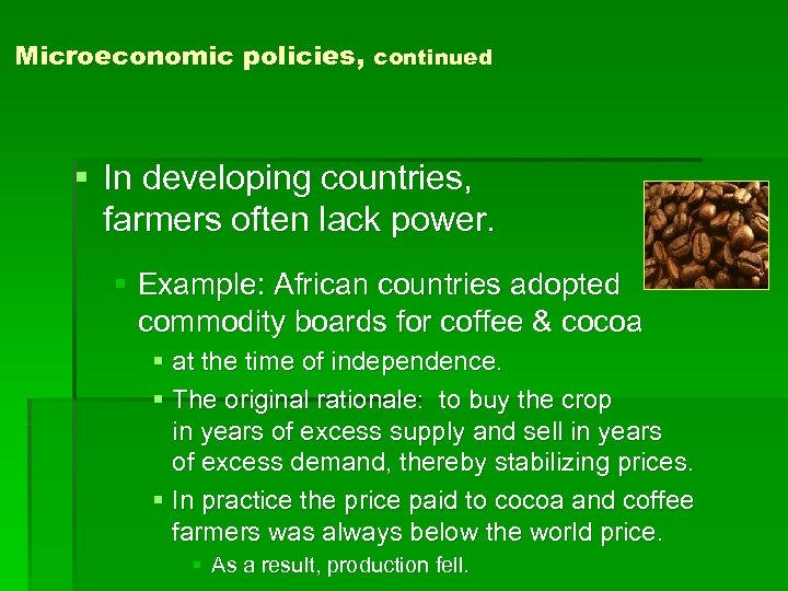 examples of microeconomic policies