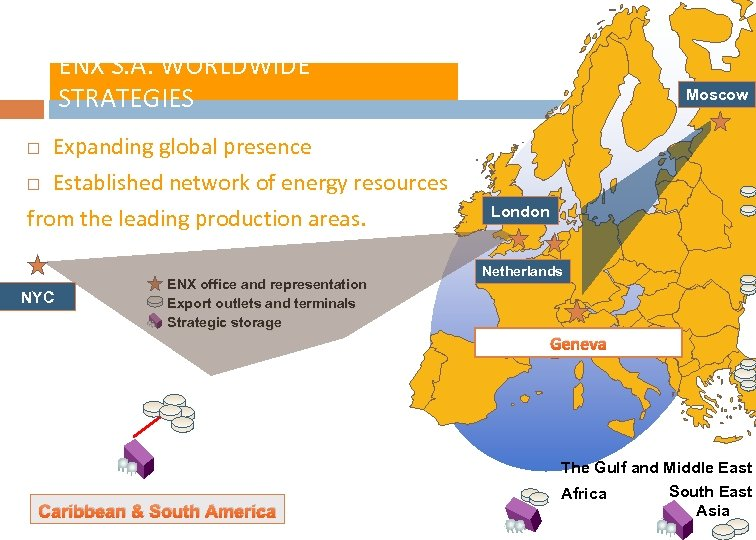 ENX S. A. WORLDWIDE STRATEGIES Expanding global presence Established network of energy resources from