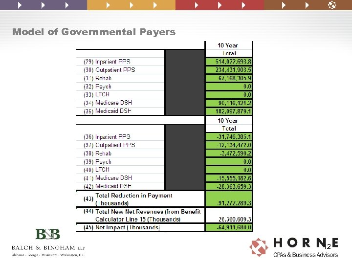 Model of Governmental Payers 12