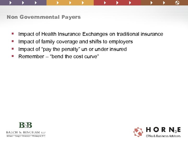 Non Governmental Payers § § Impact of Health Insurance Exchanges on traditional insurance Impact