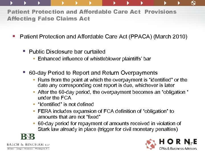 Patient Protection and Affordable Care Act Provisions Affecting False Claims Act § Patient Protection