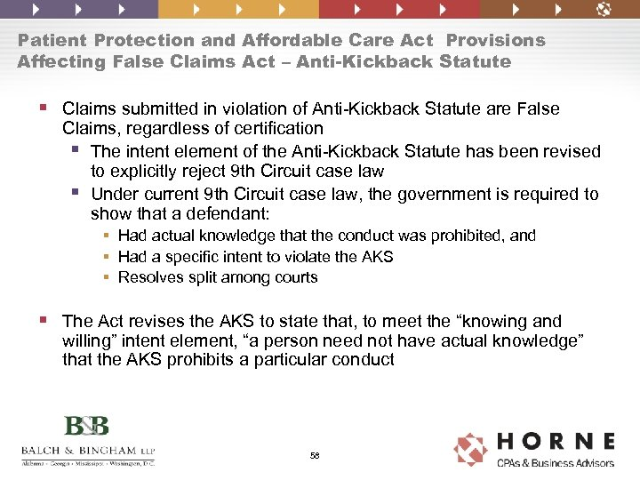 Patient Protection and Affordable Care Act Provisions Affecting False Claims Act – Anti-Kickback Statute