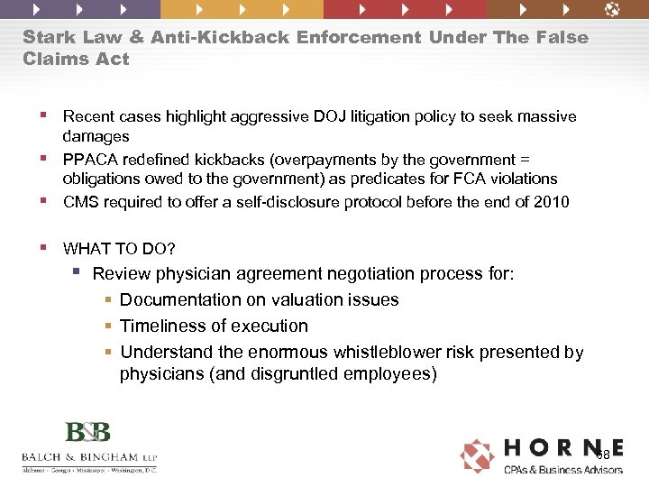 Stark Law & Anti-Kickback Enforcement Under The False Claims Act § Recent cases highlight