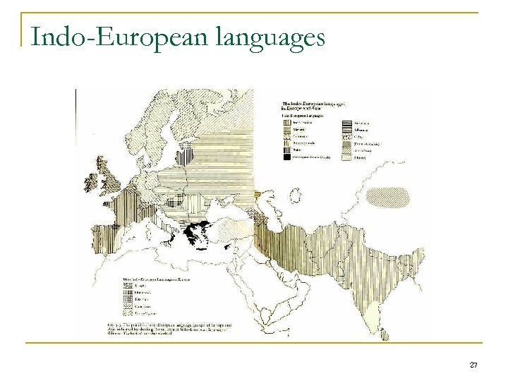 Indo-European languages 27