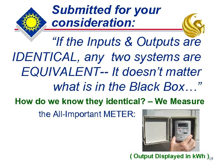 "Submitted for your consideration: ""If the Inputs & Outputs are IDENTICAL, any two systems"