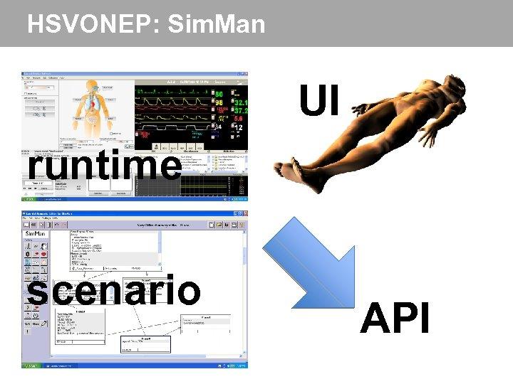 HSVONEP: Sim. Man UI runtime scenario API