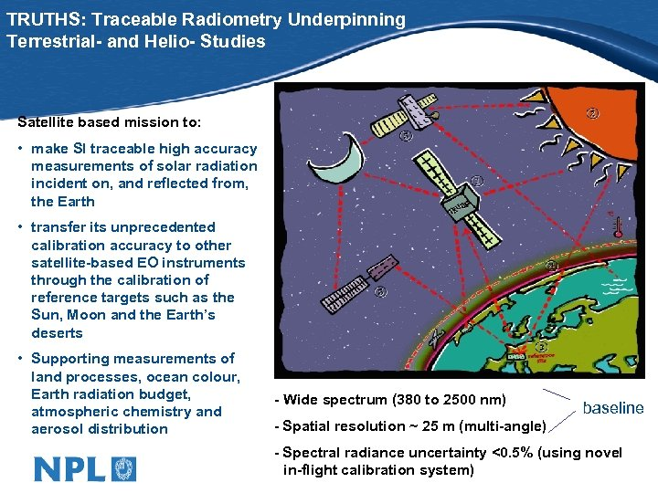 TRUTHS: Traceable Radiometry Underpinning Terrestrial- and Helio- Studies Satellite based mission to: • make