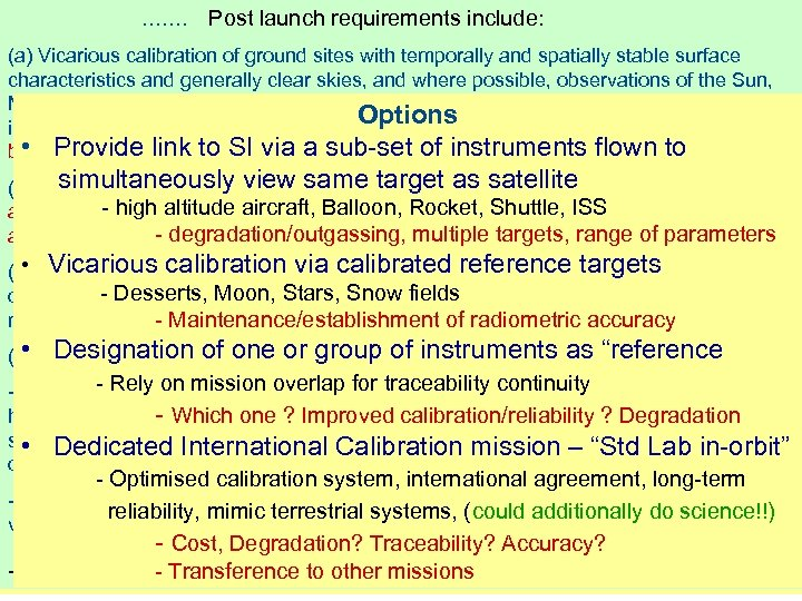 CCPR RECOMMENDATION P 1 (2005) ……. Post launch requirements include: Resolution adopted by CEOS