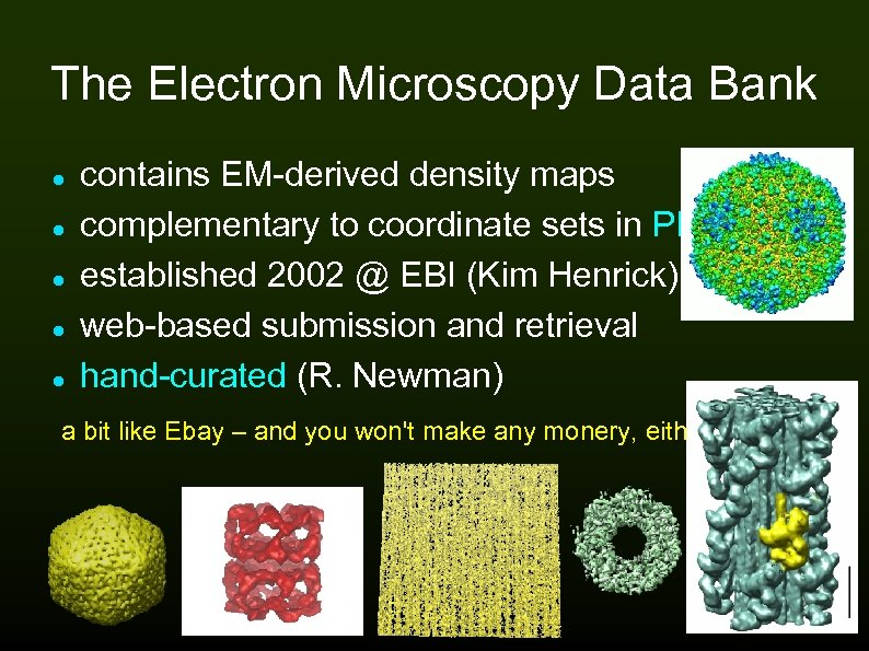 The Electron Microscopy Data Bank contains EM-derived density maps complementary to coordinate sets in