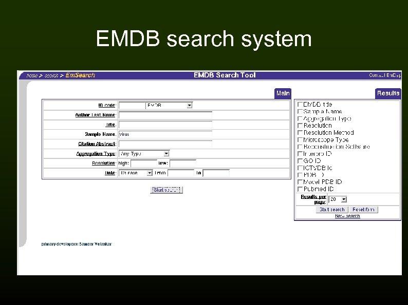 EMDB search system