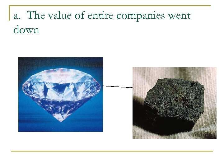 a. The value of entire companies went down