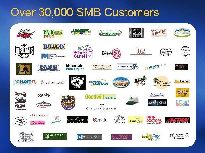 Over 30, 000 SMB Customers