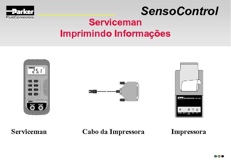 Senso. Control Serviceman Imprimindo Informações Serviceman Cabo da Impressora