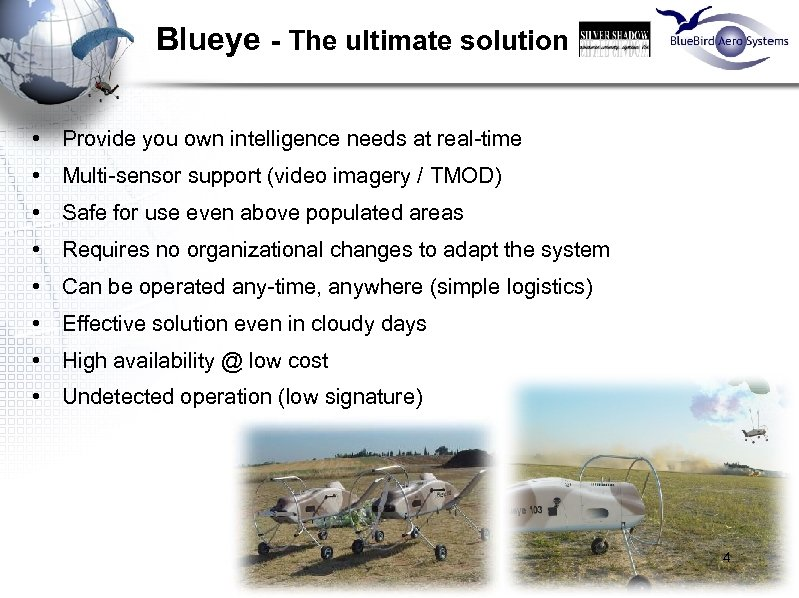 Blueye - The ultimate solution • Provide you own intelligence needs at real-time •