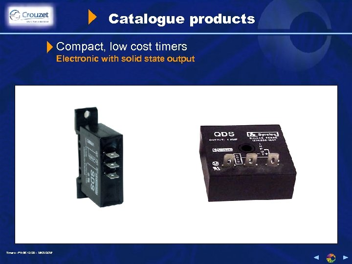 Catalogue products Compact, low cost timers Electronic with solid state output Timers - PAGE