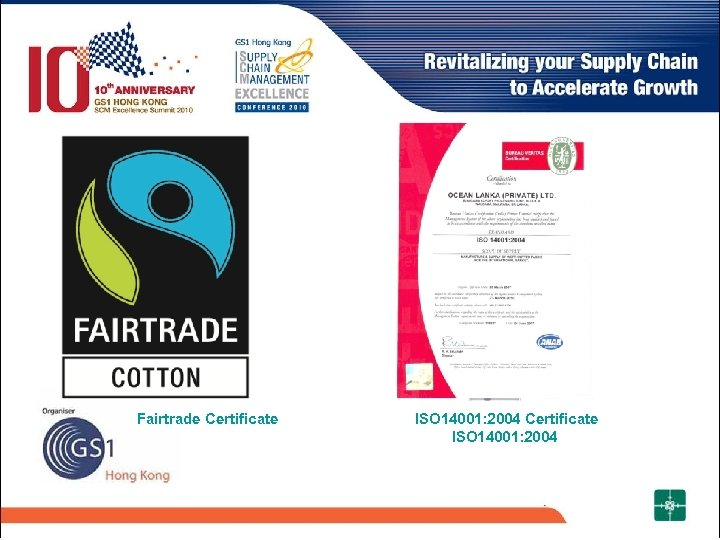 Fairtrade Certificate ISO 14001: 2004