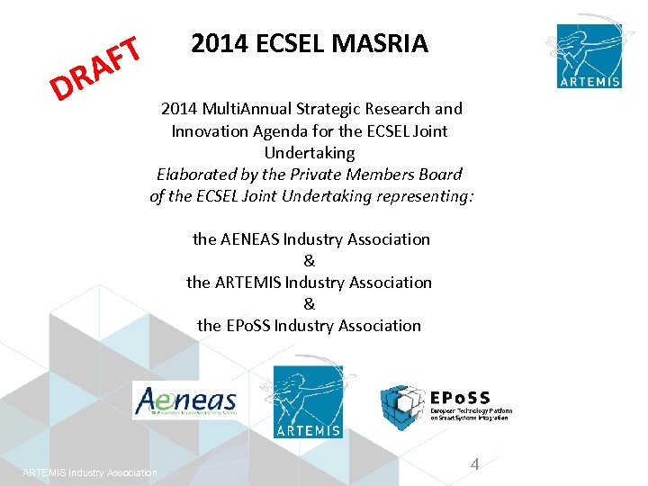 2014 ECSEL MASRIA FT A DR 2014 Multi. Annual Strategic Research and Innovation Agenda