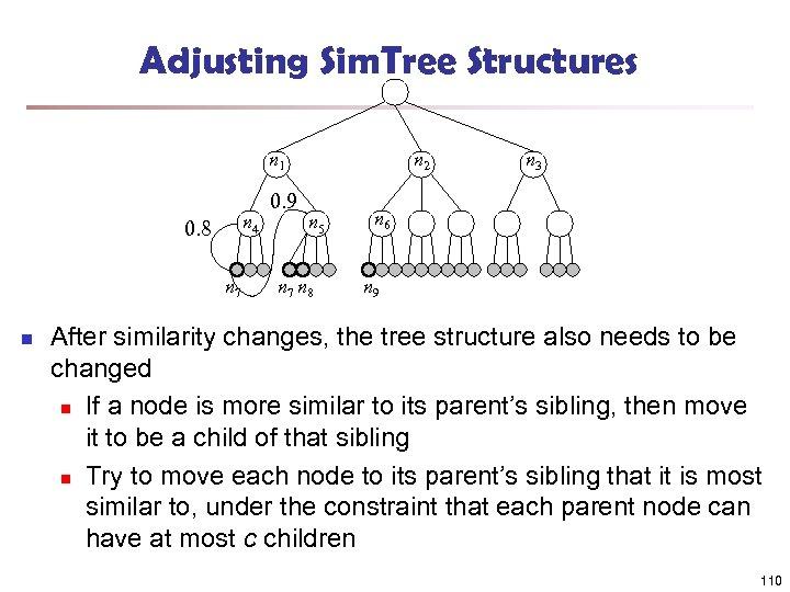 Adjusting Sim. Tree Structures n 1 n 4 0. 8 n 7 n 0.