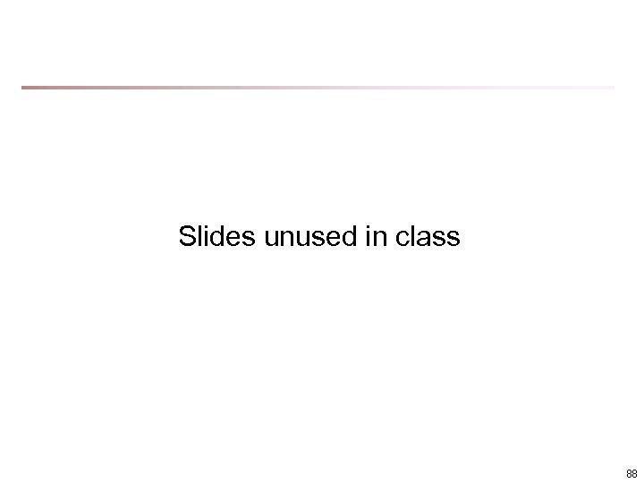 Slides unused in class 88