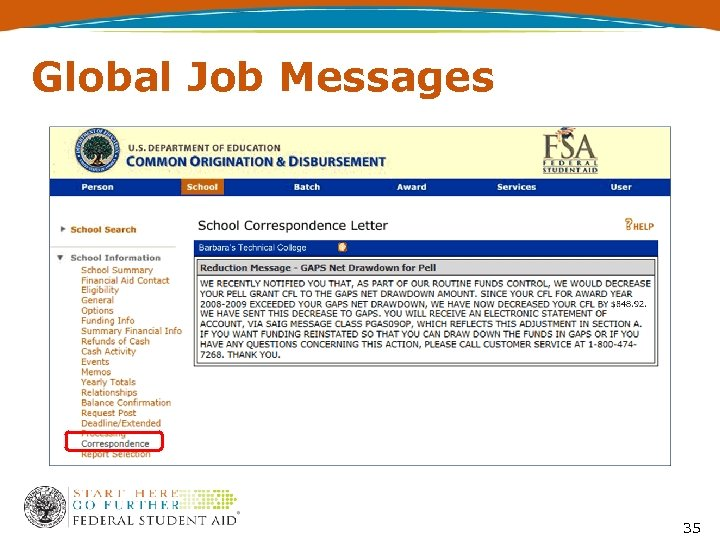 Global Job Messages 35