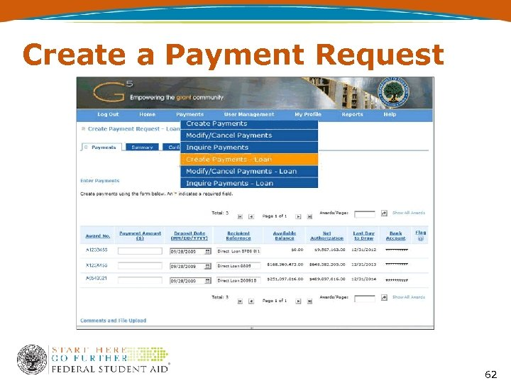 Create a Payment Request 62
